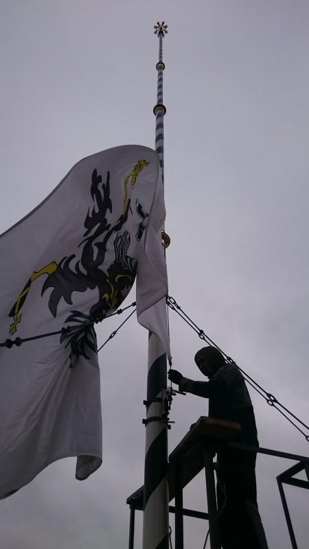 Hissen der Fahne