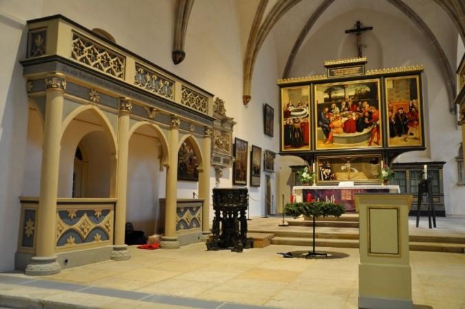 Blick in den Chor von St. Marien