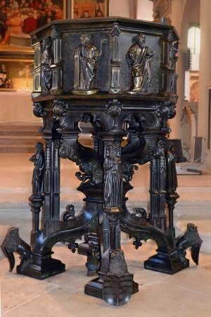 Die Taufe von Hermann Vischer von 1457 nach Abschluss der Maßnahmen